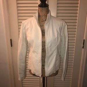 Wilsons Leather - white leather jacket